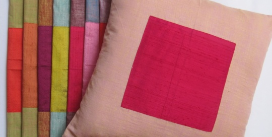 Khadi cushion cover