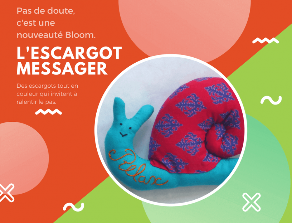 Un nouveau venu dans la collection Bloom : L'escargot Messager !!!