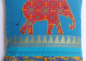 """Elephant"" cushion cover"